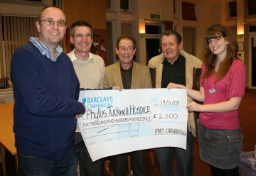 IPMS Farnborough present cheque to Phyllis Tuckwell Hospice