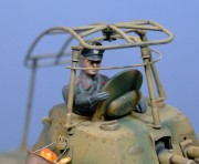 Panzerspahwagen P.204 commander (note the monocle), 1:35