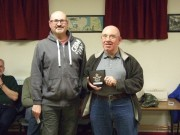 Chris Shepherd recieving trophy from Eric McLoughlin