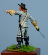 Officer, Okey's Dragoons,  Naseby, 1645, 54mm