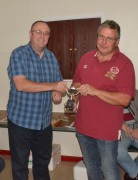 Simon receiving the Wattisham Anker Trophy