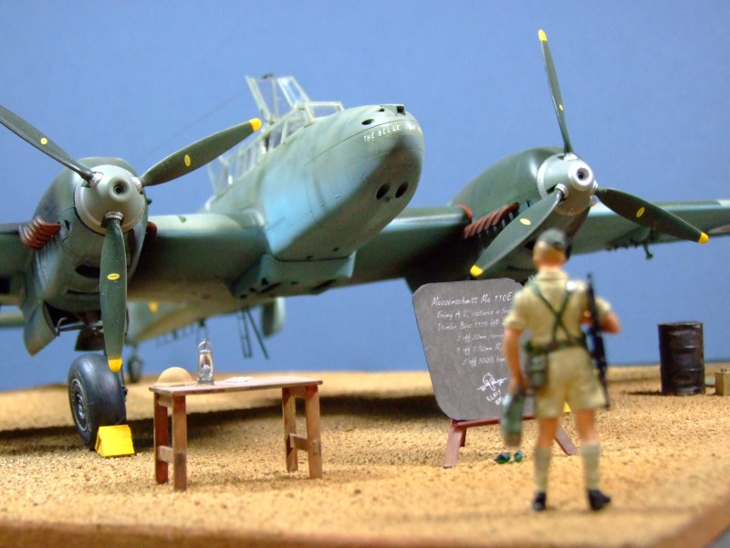 Messerschmitt Bf110E-4, captured in Iraq, 1:32