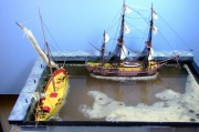 Corsair, 1:150 and HMS Bounty, 1:110